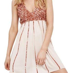 Free People Glitter Girl Mini Dress